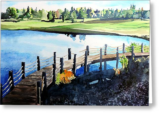 Water Valley Golf Greeting Card