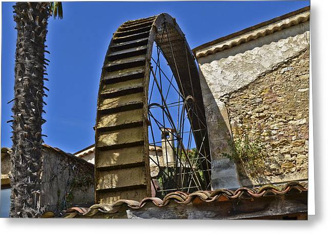 Water Wheel At Moulin A Huile Michel Greeting Card by Allen Sheffield