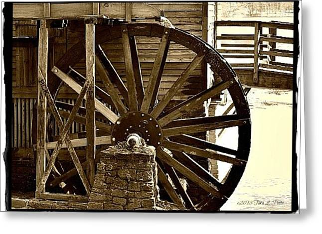 Greeting Card featuring the photograph Water Wheel At The Grist Mill by Tara Potts