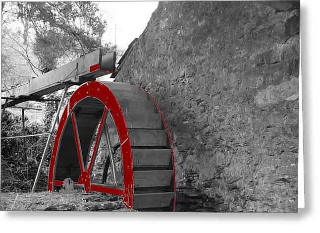 Greeting Card featuring the photograph Water Wheel.  by Christopher Rowlands
