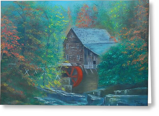 Water Wheel House  Greeting Card