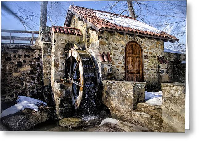 Water Wheel Mill At Eastern College Greeting Card by Bill Cannon
