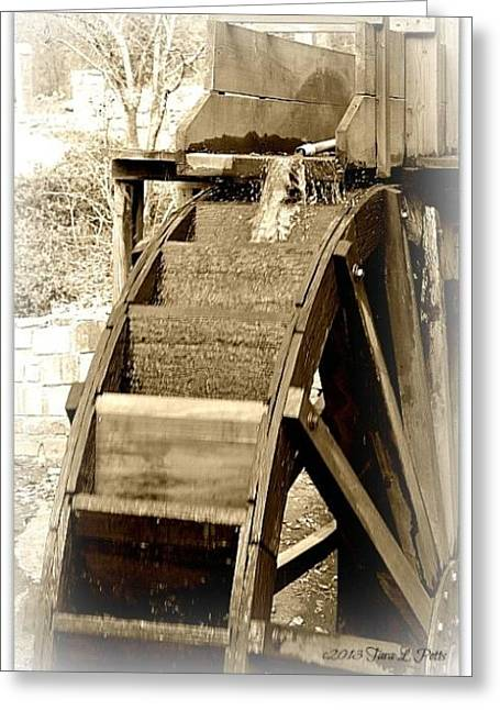Greeting Card featuring the photograph Water Wheel by Tara Potts