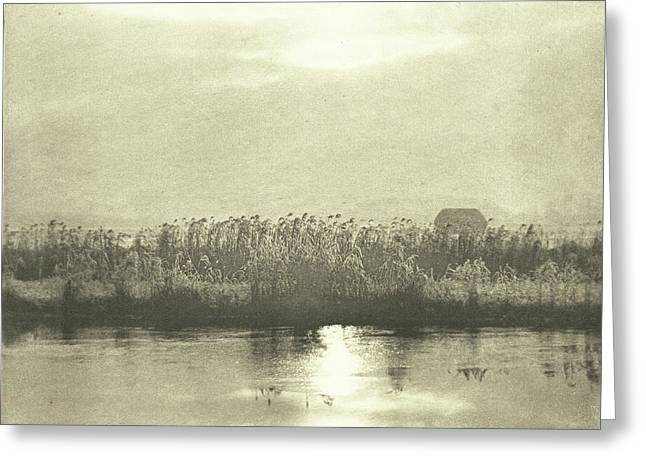 Water With Cornfield, Peter Henry Emerson Greeting Card by Artokoloro