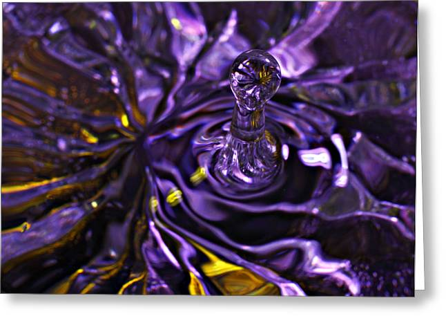 Water Works 01 - The Color Purple Greeting Card