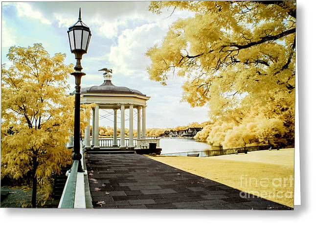 Water Works And Boathouse Row Greeting Card
