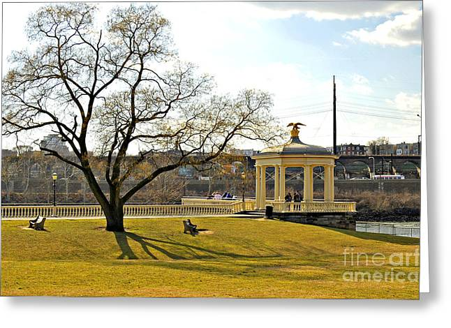 Water Works Gazebo Greeting Card by Addie Hocynec