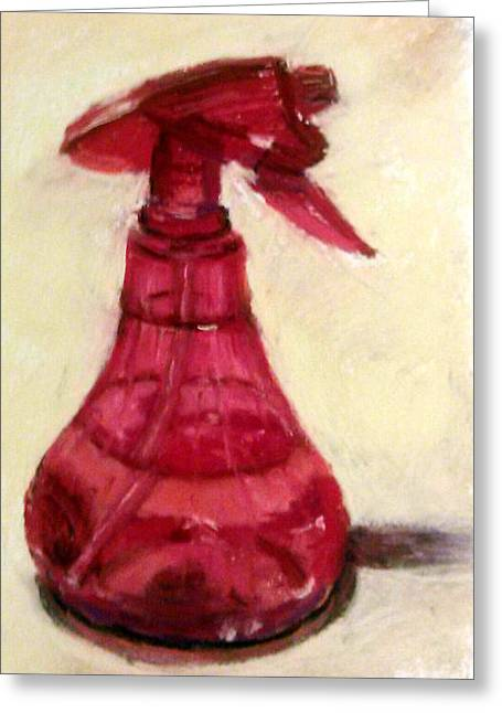 Waterbottle Greeting Card by Donna Lee Hayes