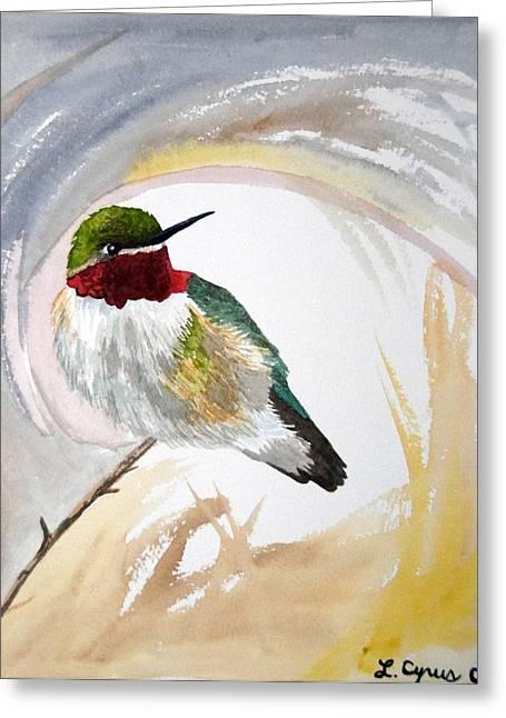 Watercolor - Broad-tailed Hummingbird Greeting Card