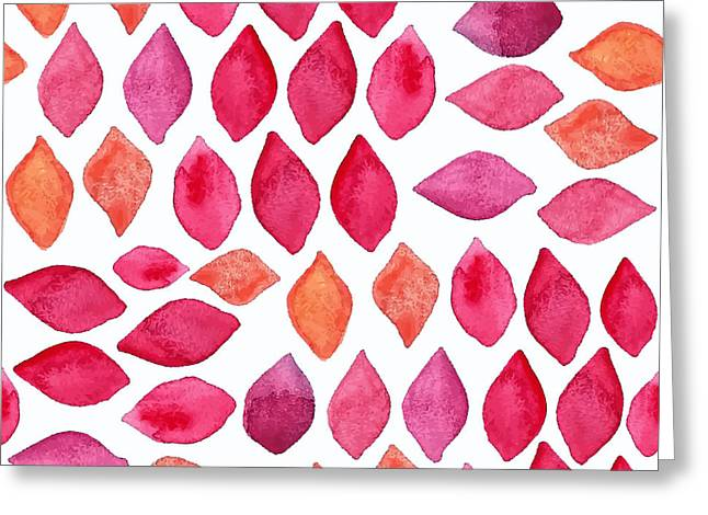 Watercolor Abstract Seamless Pattern Greeting Card
