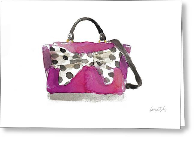 Watercolor Bow Satchel II Greeting Card