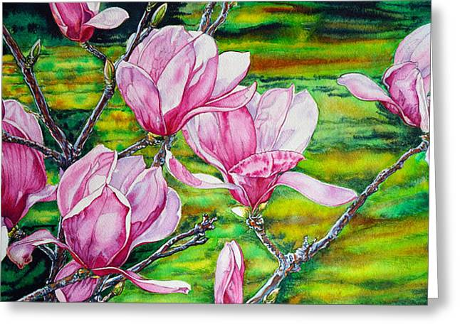 Watercolor Exercise Magnolias Greeting Card