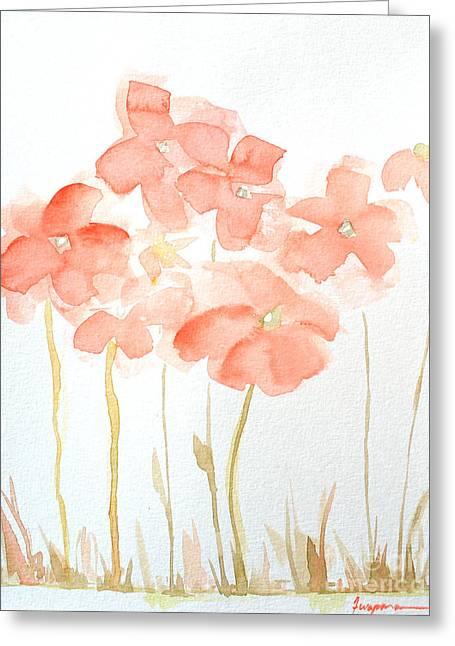 Watercolor Flower Field Greeting Card