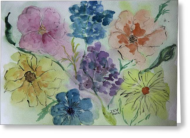 Pastel Flowers Greeting Card