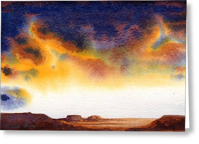Greeting Card featuring the painting Mesa by Konnie Kim
