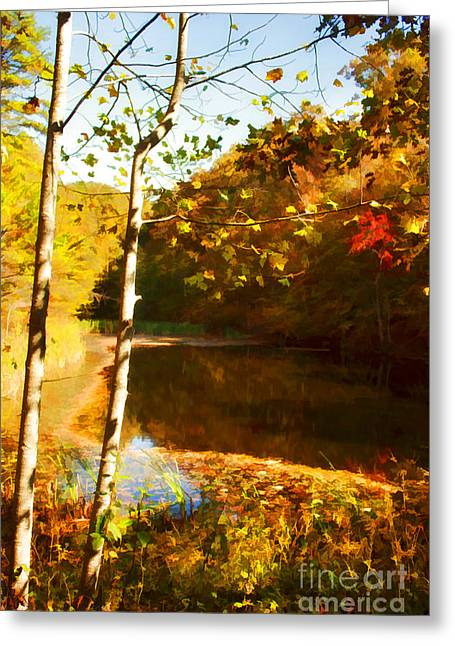 Watercolor Pond Greeting Card