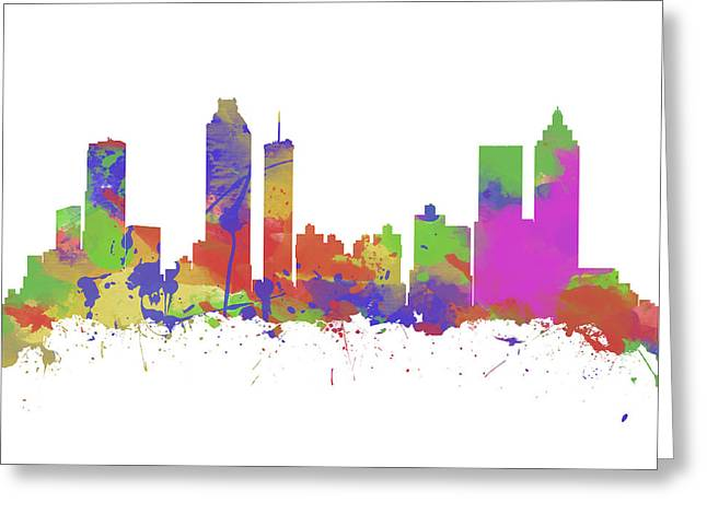 Watercolor Print Of The Skyline Of Atlanta Georgia  Greeting Card by Chris Smith