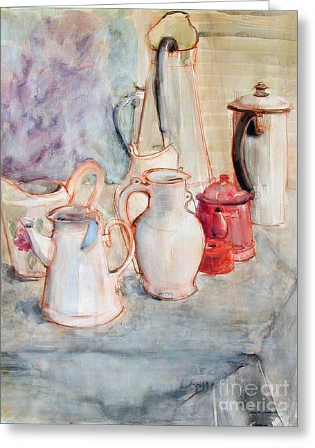 Watercolor Still Life With Red Can Greeting Card