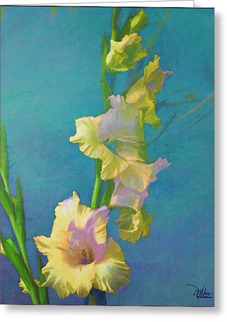 Watercolor Study Of My Garden Gladiolas Greeting Card