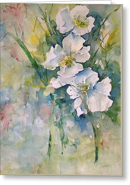 Watercolor Wild Flowers Greeting Card