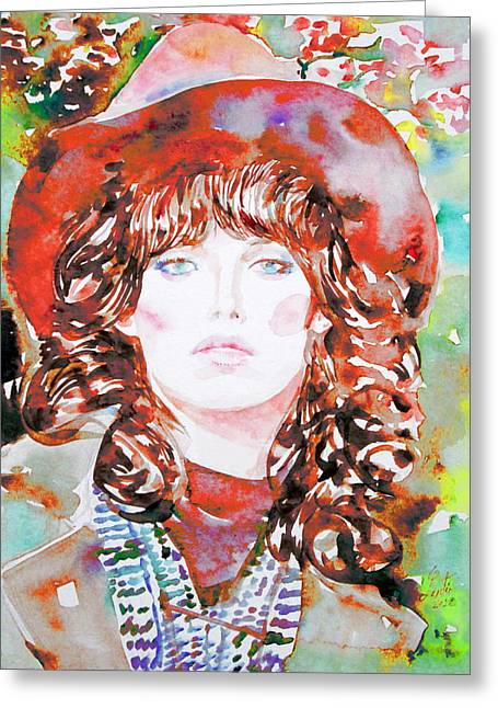 Watercolor Woman.45 Greeting Card by Fabrizio Cassetta