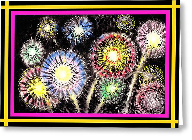 Watercolorful Fireworks Greeting Card