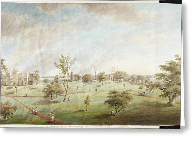 Watercolour Of Barrackpore House And Park Greeting Card by British Library