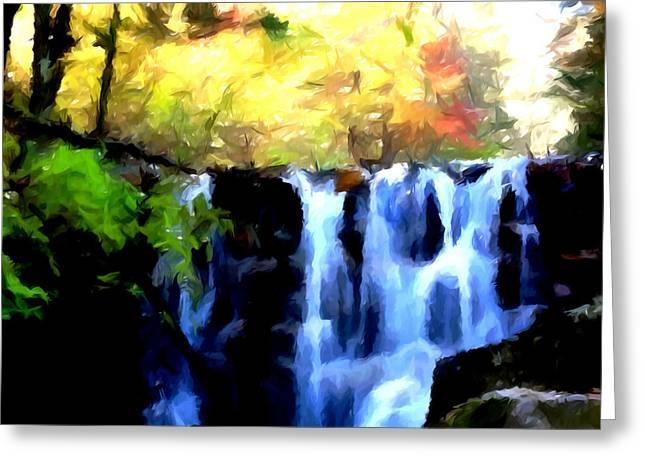 Waterfall 1 Greeting Card by Lanjee Chee