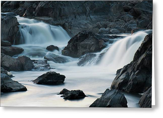 Waterfall After Dusk Greeting Card