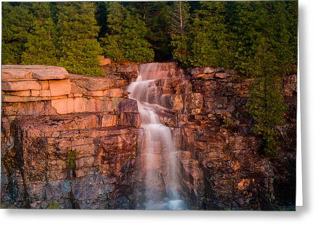 Waterfall Greeting Card by Allan Johnson