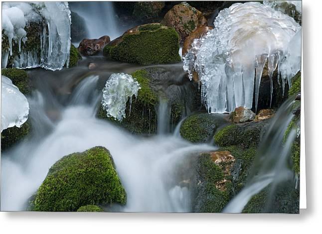 Waterfall An Ice Greeting Card