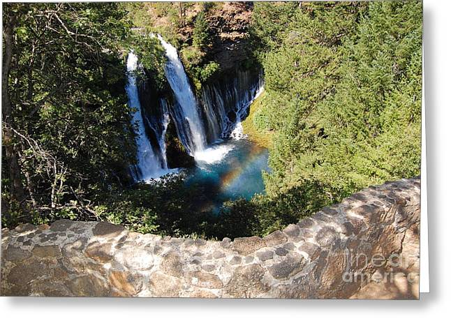 Greeting Card featuring the photograph Waterfall And Rainbow 3 by Debra Thompson