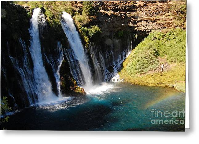 Greeting Card featuring the photograph Waterfall And Rainbow 4 by Debra Thompson