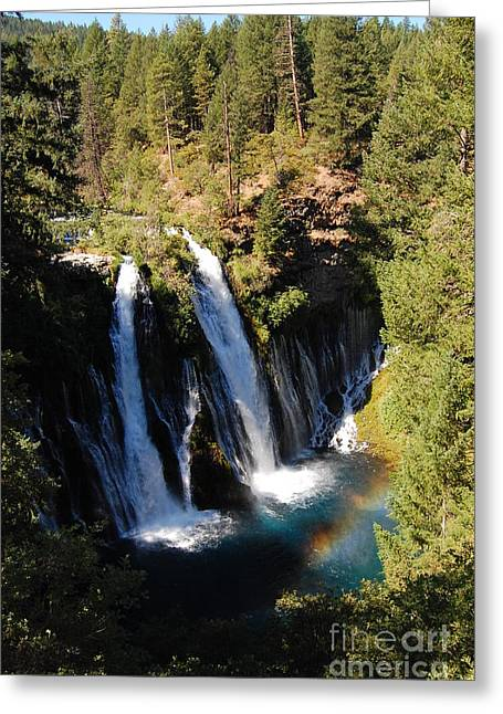 Greeting Card featuring the photograph Waterfall And Rainbow by Debra Thompson
