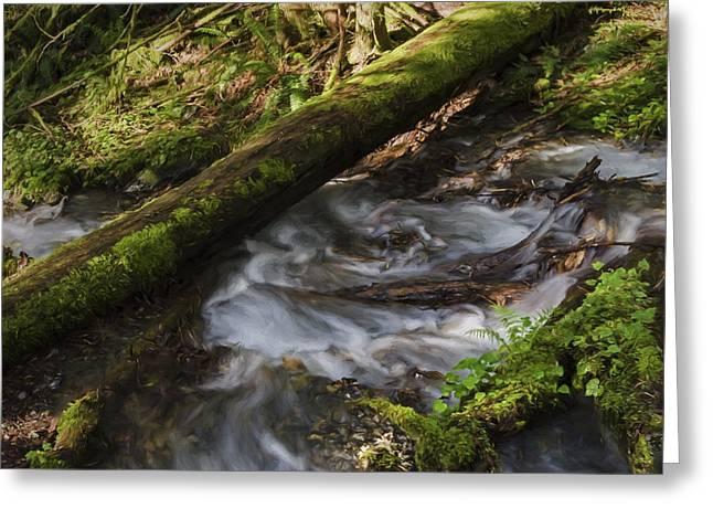 Waterfall Art - Wash Your Worries Away Greeting Card