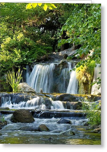 Waterfall At Lake Katherine Greeting Card