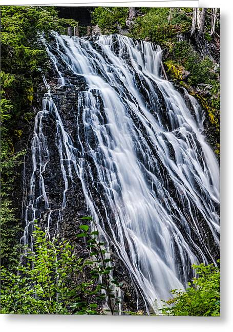 Waterfall At Mt. Rainier Greeting Card