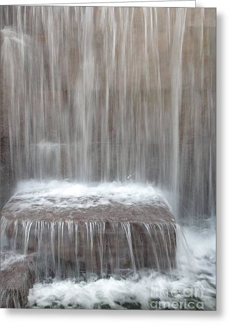 Waterfall At The Fdr Memorial In Washington Dc Greeting Card