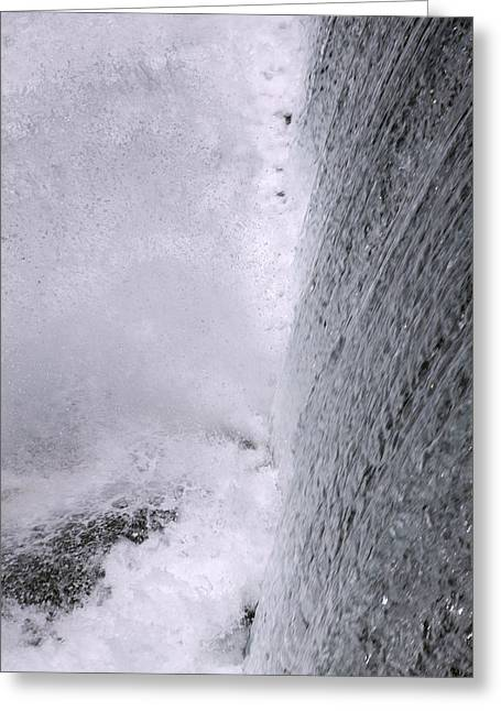 Waterfall Close-up Greeting Card