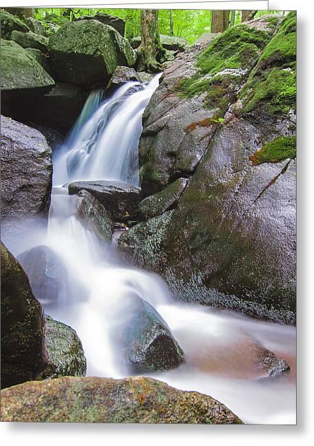 Waterfall Greeting Card by Eduard Moldoveanu