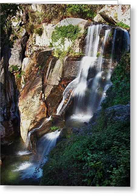 Waterfall II Greeting Card by Marco Oliveira
