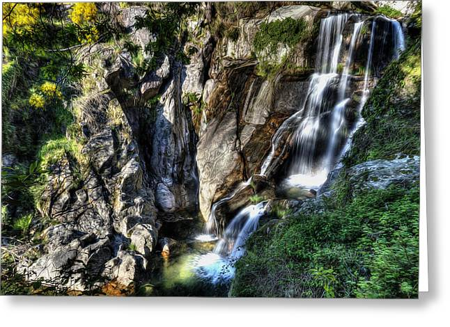Waterfall IIi Greeting Card by Marco Oliveira