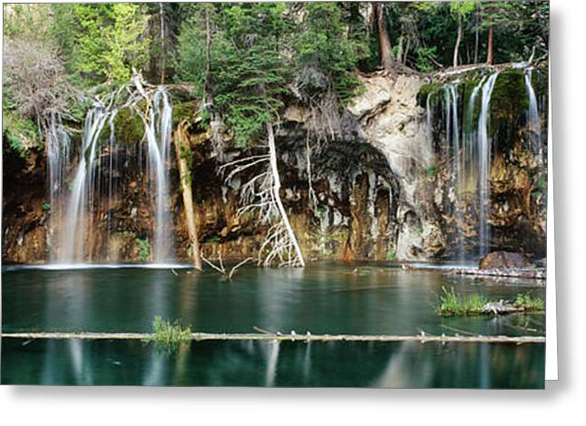 Waterfall In A Forest, Hanging Lake Greeting Card
