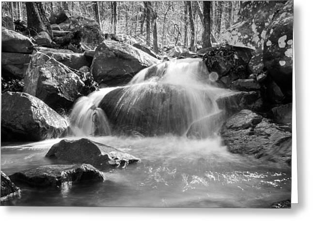 Waterfall In Southeastern Oklahoma Greeting Card