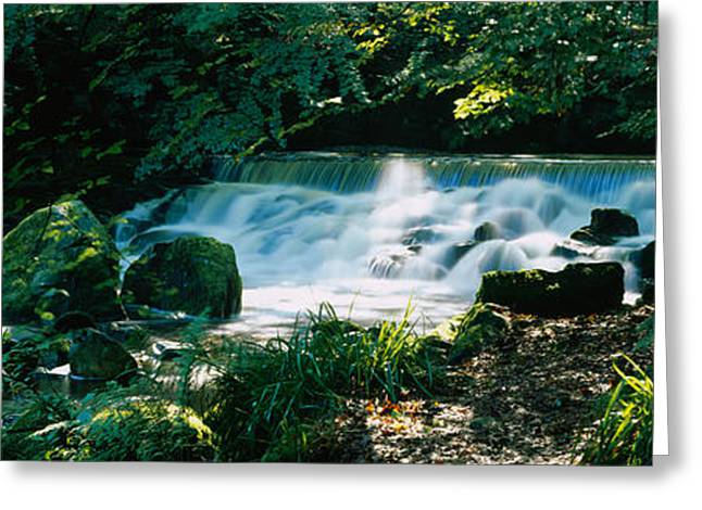 Waterfall In The Forest, Birks O Greeting Card