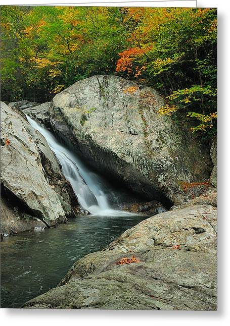Waterfall In West Fork Of Pigeon River Greeting Card