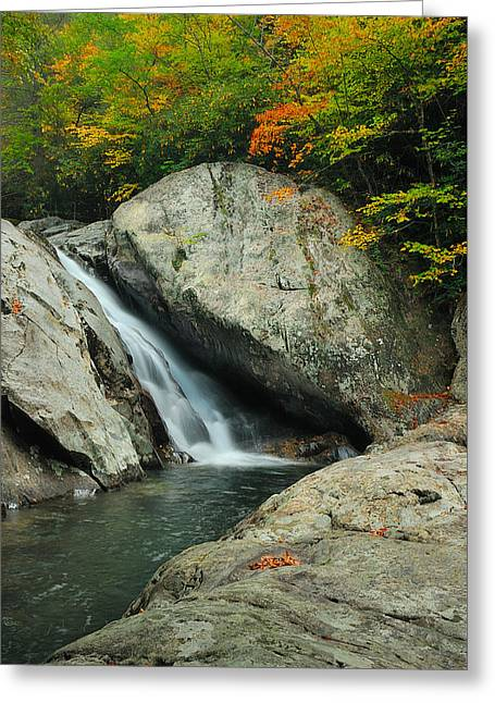 Waterfall In West Fork Of Pigeon River Greeting Card by Photography  By Sai