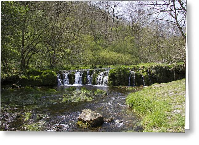 Waterfall Lathkill Dale Derbyshire Greeting Card