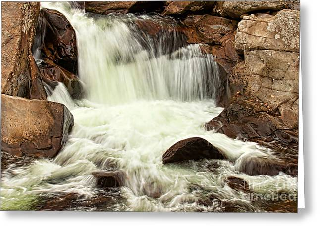 Waterfall Greeting Card by Lena Auxier