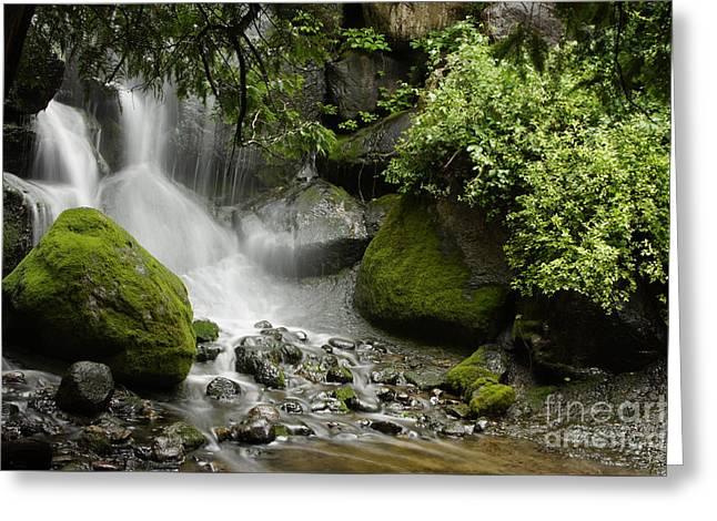 Waterfall Mist Greeting Card